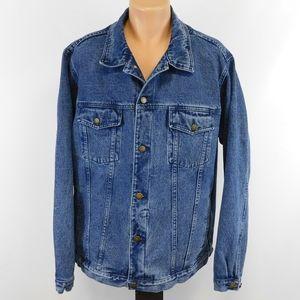 Cabela's denim trucker's jacket.  L - Tall